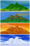 Mountain and four seasons Royalty Free Stock Images