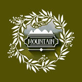 Mountain frame with blur background  icon design. Vector illustration  graphic Royalty Free Stock Photos