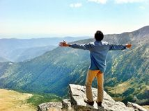 Mountain embrace stock photo