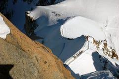 Mountain freeride tour Stock Images