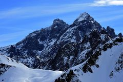 Mountain in the french alps. Mountain landscape in the french alps Royalty Free Stock Image