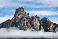 Mountain in front of sky Royalty Free Stock Photo