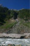 Mountain and frozen glacier near Srinagar-1 Stock Image