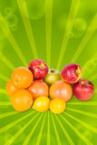 Mountain fruits Stock Images