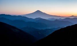 Mountain Fuji in autumn Stock Photos