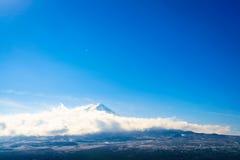 Mountain Fuji with blue sky , Japan. stock photos