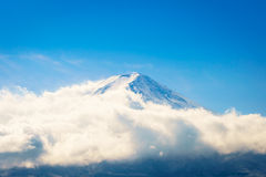 Mountain Fuji with blue sky , Japan. stock images