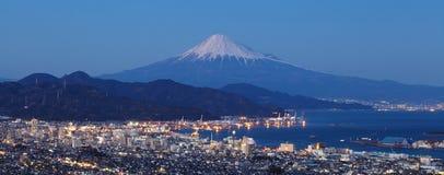 Mountain Fuji and cityscape at Shizuoka Stock Images