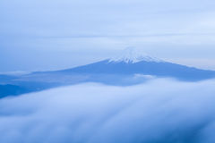 Mountain Fuji and cloud seen from Top of Mountain mitsutoge Stock Photo