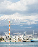 Mountain Fuji and Factory Royalty Free Stock Photos