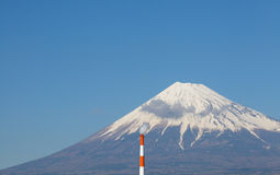 Mountain Fuji and Japan industry zone Stock Photos