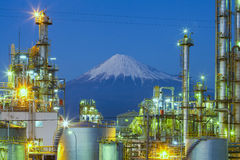 Mountain Fuji and Japan industry zone Royalty Free Stock Photos