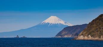 Mountain fuji and Japan sea in winter Stock Photo