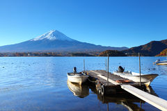 Mountain Fuji and jetty Royalty Free Stock Image