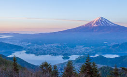 Mountain fuji and Kawaguchi lake. Beautiful Mountain fuji and Kawaguchi lake in early morning stock photography