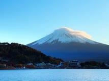 Mountain Fuji and lake Stock Images
