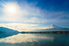 Mountain fuji and lake kawaguchi, Japan. Mountain fuji and lake kawaguchi, Japan stock photo