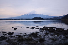 Mountain fuji and lake kawaguchi. Japan stock photography