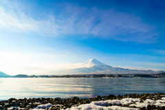 Mountain fuji and lake kawaguchi, Japan. Mountain fuji and lake kawaguchi, Japan stock photography