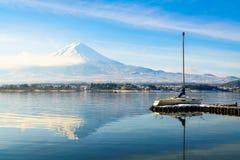 .Mountain fuji and lake kawaguchi, Japan stock photo
