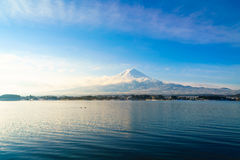 Mountain fuji and lake kawaguchi, Japan . Mountain fuji and lake kawaguchi, Japan royalty free stock image