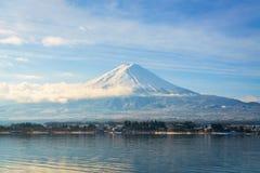 .Mountain fuji and lake kawaguchi, Japan royalty free stock images