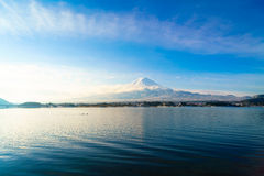.Mountain fuji and lake kawaguchi, Japan. Mountain fuji and lake kawaguchi, Japan royalty free stock photo