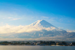 .Mountain fuji and lake kawaguchi, Japan. Mountain fuji and lake kawaguchi, Japan royalty free stock image