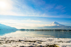 .Mountain fuji and lake kawaguchi, Japan. Mountain fuji and lake kawaguchi, Japan stock image
