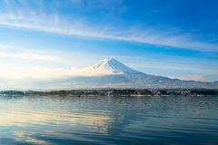 .Mountain fuji and lake kawaguchi, Japan. Mountain fuji and lake kawaguchi, Japan royalty free stock photos