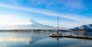 . Mountain fuji and lake kawaguchi, Japan. Mountain fuji and lake kawaguchi, Japan royalty free stock image
