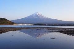 Mountain fuji and Lake kawaguchiko in evening Royalty Free Stock Photography
