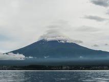 Mountain Fuji and lake Kawaguchiko, Yamanashi Japan.  Royalty Free Stock Images