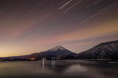 Mountain Fuji and Lake Motosu Royalty Free Stock Photos