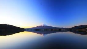 Mountain Fuji and lake reflection stock image