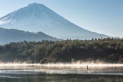Mountain Fuji Lake saiko Royalty Free Stock Images