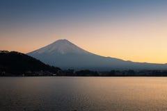 The mountain Fuji and lake royalty free stock image