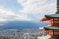 Mountain Fuji landscape Stock Photo