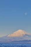Mountain Fuji and moon Royalty Free Stock Photos