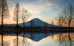 Mountain Fuji in the morning Royalty Free Stock Photo