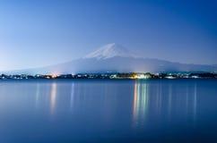 Mountain Fuji at night Stock Photo