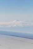Mountain Fuji from plane Royalty Free Stock Photos