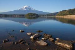 Mountain Fuji with reflection at Lake Kawaguchiko Stock Photography