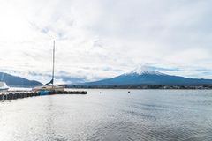 Mountain Fuji San at Kawaguchiko Lake in Japan. Royalty Free Stock Photo