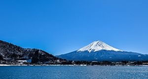 Mountain Fuji-San without shy stock images
