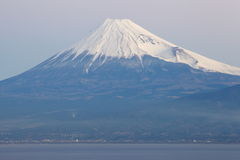 Mountain Fuji and sea from Izu city Stock Photos
