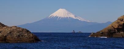 Mountain Fuji and sea from Izu city Royalty Free Stock Photos