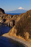 Mountain Fuji and sea Royalty Free Stock Image