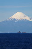 Mountain Fuji and sea Stock Photo