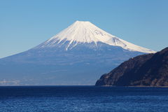 Mountain Fuji and sea Stock Photography